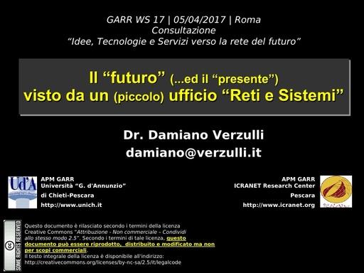 Presentazione D.Verzulli