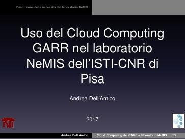 Presentazione A.Dell'Amico - GDL Cloud