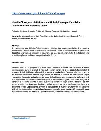 CONF2017 paper Scipione