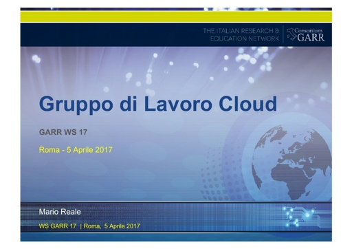 Presentazione M.Reale - GDL Cloud